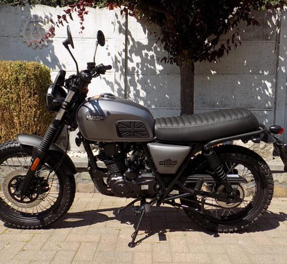 Brixton scrambler , café racer moto 125cc ABS   VERKOCHT!!!