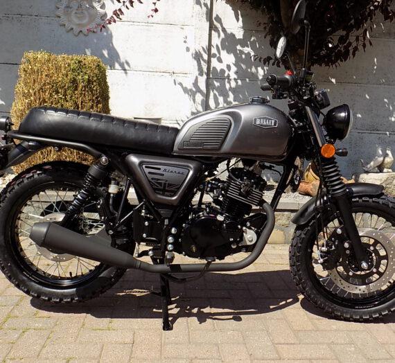 Bullit Bluroc scrambler , café racer moto 125cc CBS
