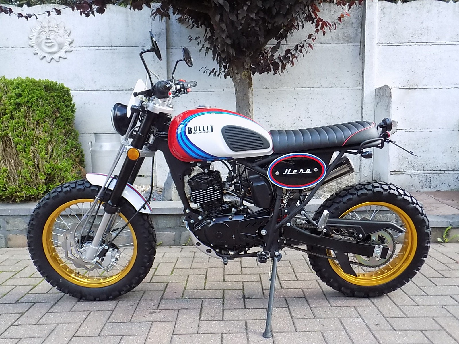 Bullit hero 125cc  scrambler (VERKOCHT)!!!