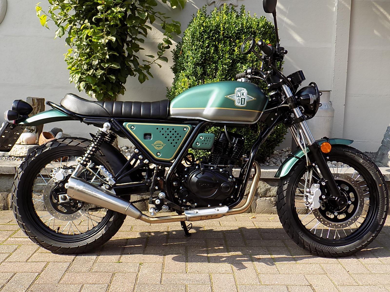 orcal nk01 125cc scrambler (VERKOCHT)!!!