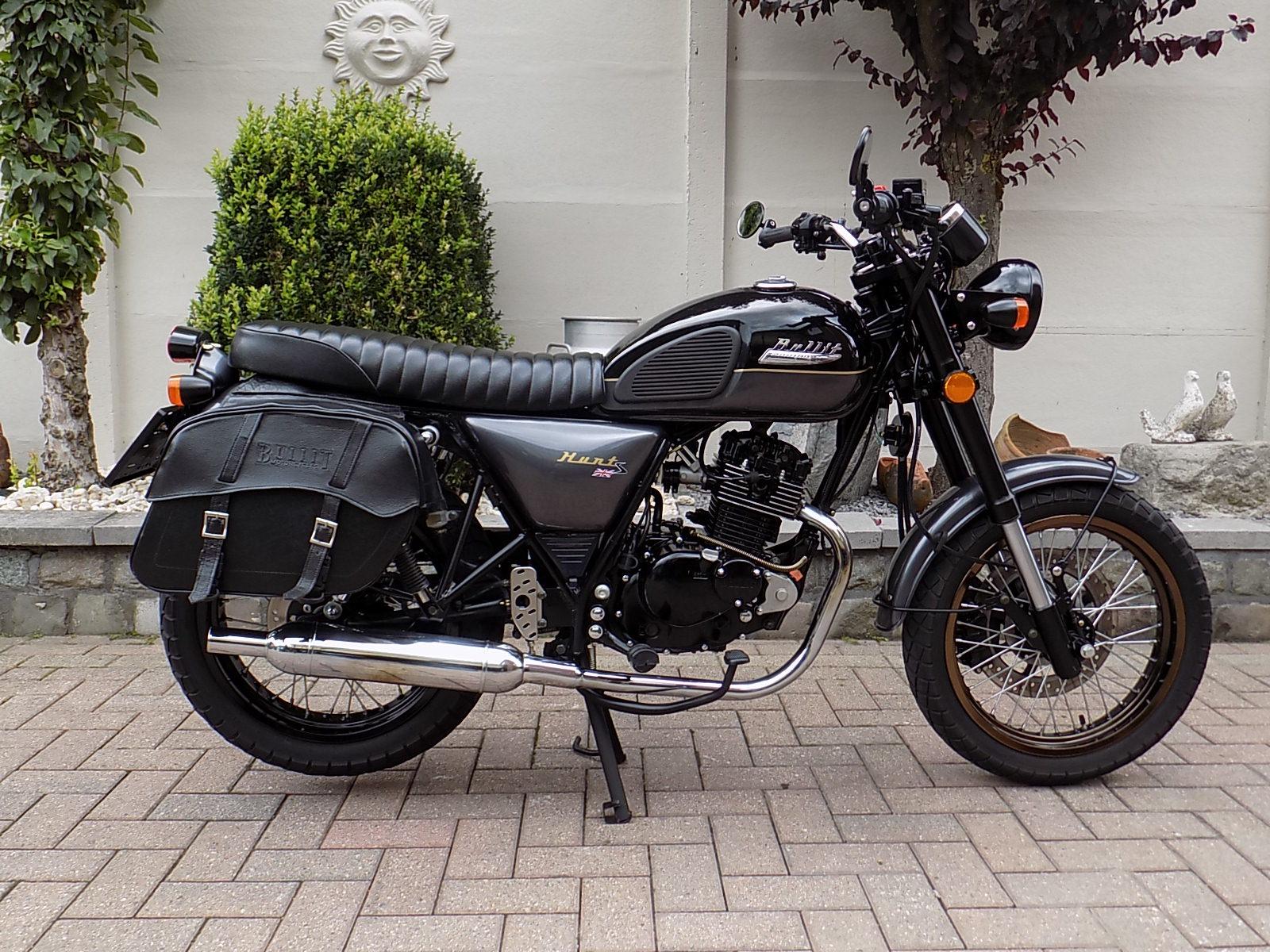 Bullit hunt scrambler , café racer moto 125cc CBS (VERKOCHT)!!!