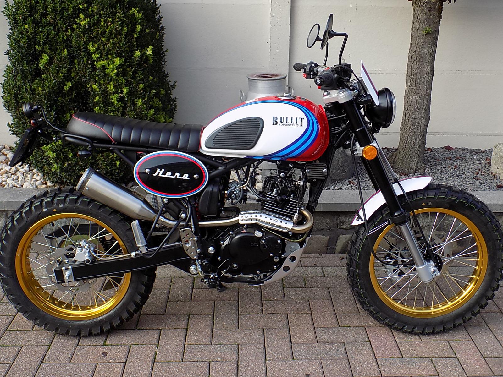 Bullit hero 125cc  scrambler euro 5!! (VERKOCHT)!!!